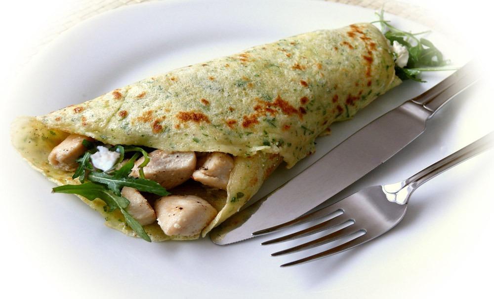 Egg and Arugula Wraps