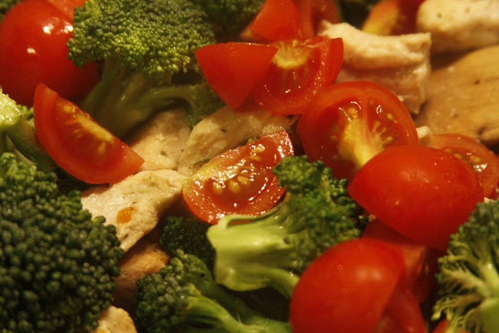 Toasted Veggies with Chicken