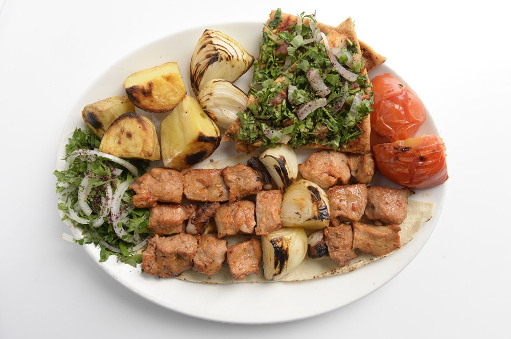 Veggies with Grilled Pork